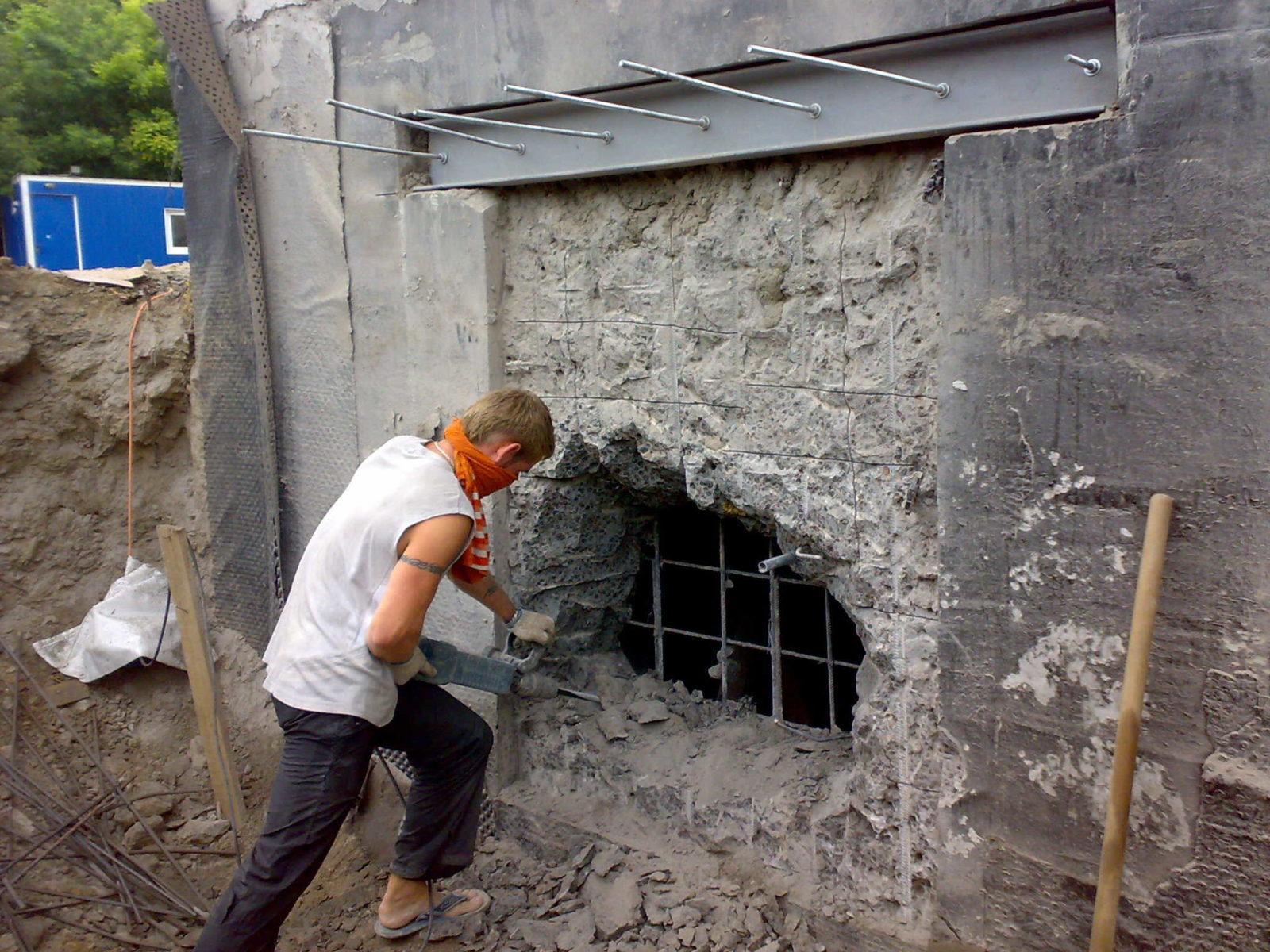 Алмазная резка проемов в несущих стенах в Санкт-Петербурге