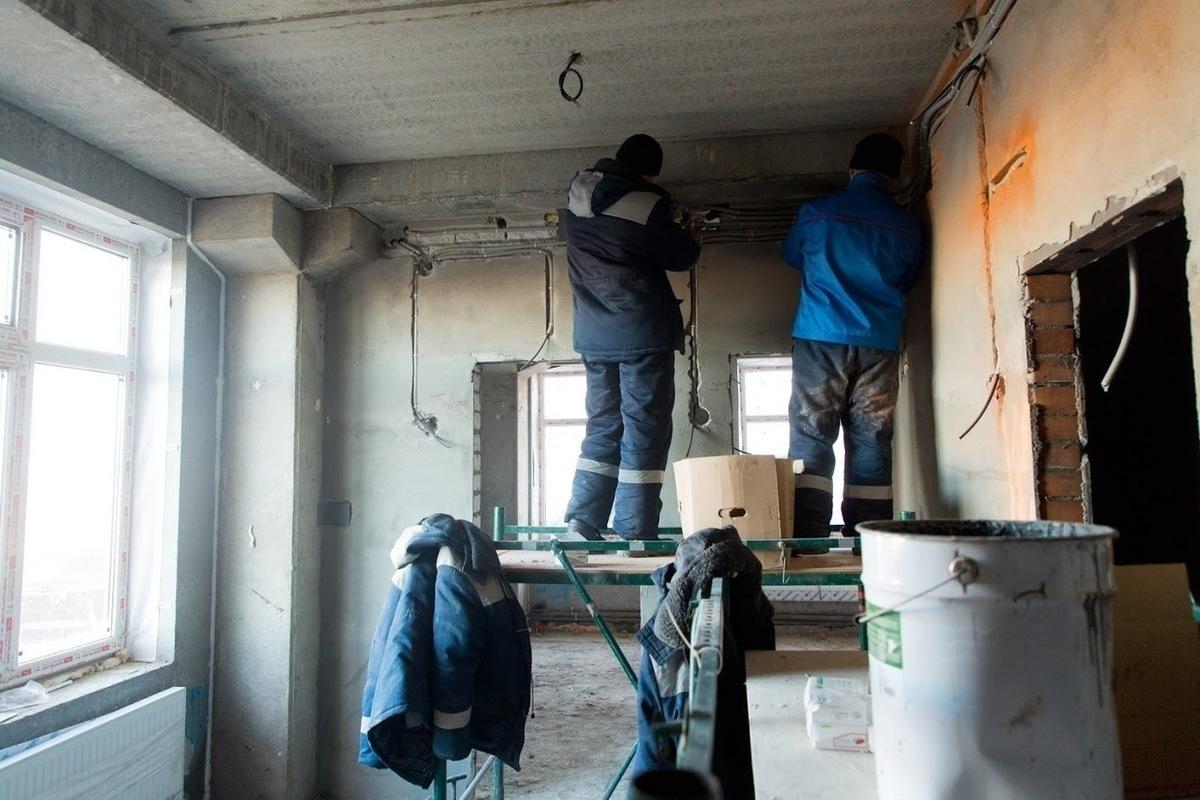 Штробление несущих стен в Санкт-Петербурге